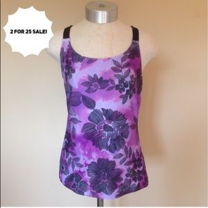New balance Floral watercolor active workout top